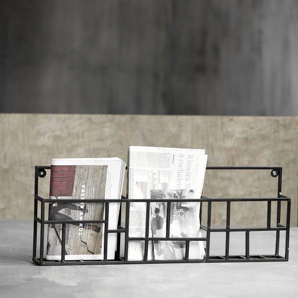 House-Doctor-SD0920-Tijdschriftrek-Rack-L5xB70xH30cm-Metaal-Zwart-2